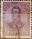 Stamps Argentina -  Intercambio 0,30 usd 1/2 centavo 1908