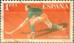 Stamps : Europe : Spain :  Intercambio 0,20 usd 1 peseta 1960