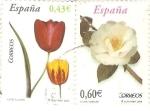 Stamps Spain -  FLORES.  TULIPAN  Y  CAMELIA.