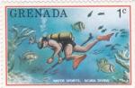 Sellos de America - Granada -  Submarinismo