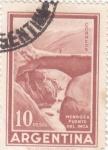 Stamps Argentina -  Mendoza puente del Inca