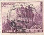 Sellos de America - Chile -  Centenario de la muerte  del general San Martín