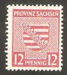 Stamps Germany -  Sachsen - 14 - Escudo de armas