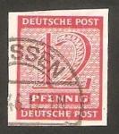 Sellos de Europa - Alemania -  4 - Cifra y nombre