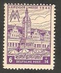 Stamps Germany -  37 - Feria de Leipzig 1946