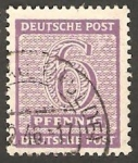 Stamps Germany -  10 - Cifra y nombre