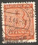 Stamps Germany -  11 - Cifra y nombre