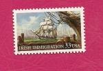 Sellos del Mundo : America : Estados_Unidos : Inmigración Irlandesa - sello conjunto con Irlanda - (Emigración)