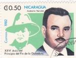 Sellos de America - Nicaragua -  Ausberto Narváez -XXVI Aniversario del principio del fin de la Dictadura