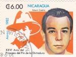 Stamps Nicaragua -  Edwin Castro - XXVI Aniversario del principio del fin de la Dictadura