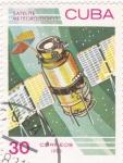 Stamps Cuba -  Satélite meteorológico -Aeronáutica