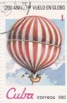 Stamps Cuba -  200 Aniv. 1º vuelo en globo