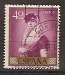 Stamps Spain -  ESPAÑA SEGUNDO CENTENARIO USD Nº 1211 (0) 40C MALVA GOYA