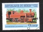 Sellos de Africa - Benin -  Locomotora Red 0-6-0