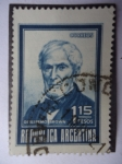 Stamps Argentina -  Almiránte: Guillermo Brown -(1777-1857 Irlándes)