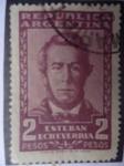 Stamps Argentina -  Esteban Echevarria -escritor, 1805-1851 (José Esteban Antonio Echeverría Espinosa)