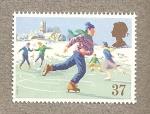 Stamps United Kingdom -  Navidades 1990