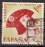 Sellos de Europa - España -  ESPAÑA SEGUNDO CENTENARIO USD Nº 1228 (0) 1P ROJO Y AMARILLOS