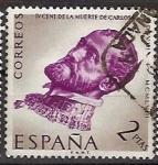 Sellos de Europa - España -  ESPAÑA SEGUNDO CENTENARIO USD Nº 1230 (0)  2P MALVA