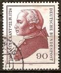 Sellos de Europa - Alemania -  250a Aniv nacimiento de Immanuel Kant (filósofo).