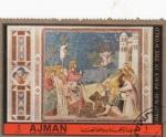 Stamps United Arab Emirates -  Giotto - La entrada en Jerusalén