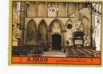 Sellos de Asia - Emiratos Árabes Unidos -  Abadía de Westminster- altar
