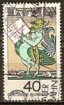 Sellos de Europa - Alemania -  300a Aniv de la muerte de JJC von Grimmelshausen (escritor). Criatura Mítica.