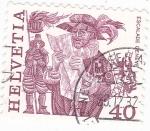 Stamps : Europe : Switzerland :  Fiestas Populares