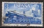Sellos de Europa - España -  ESPAÑA SEGUNDO CENTENARIO USD Nº 1237 (0) 3P AZUL FERRROCARRILES