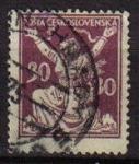 Sellos de Europa - Checoslovaquia -  CHECOSLOVAQUIA 1920 SCOTT 70 SELLO ROMPIENDO LAS CADENAS DE LA LIBERTAD
