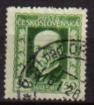 Sellos del Mundo : Europa : Checoslovaquia : CHECOSLOVAQUIA 1925 Scott 96 Sello Presidente Masaryk Usado Ceskolovensko Ceskolovensko Czechoslovak