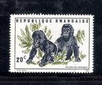 Sellos de Africa - Rwanda -  Gorilas de montaña