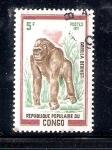 Sellos de Africa - República del Congo -  Gorilla beringei, gorila de montaña
