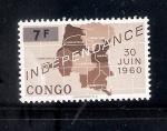 Sellos de Africa - República Democrática del Congo -  Mapa