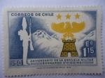 Stamps Chile -  150 Aniversario de la Escuela Militar Bernardo O´Higgins