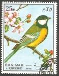 Sellos de Asia - Emiratos Árabes Unidos -  Sharjah - Pájaro