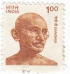 Sellos del Mundo : Asia : India : Mahatma Gandhi- político