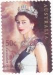 Sellos de Oceania - Australia -  Isabel II coronación 1953