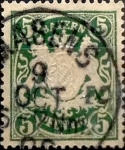 Stamps : Europe : Germany :  Intercambio ma2s 0,40 usd 5 pf 1888