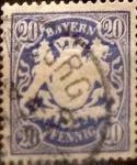 Sellos de Europa - Alemania -  Intercambio 0,40 usd 20 pf 1888