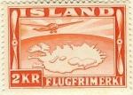 Sellos del Mundo : Europa : Islandia : Mapa de Islandia