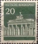Stamps Germany -  Intercambio 0,20 usd 20 pf 1968