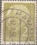 Stamps Germany -  Intercambio 0,20 usd 2 pf 1954