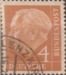 Sellos de Europa - Alemania -  Intercambio ma2s 0,20 usd 4 pf 1954