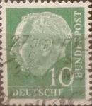 Sellos de Europa - Alemania -  Intercambio 0,20 usd 10 pf 1954