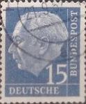 Sellos de Europa - Alemania -  Intercambio 0,30 usd 15 pf 1954