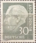 Stamps Germany -  Intercambio 0,55 usd 30 pf 1956