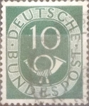 Sellos de Europa - Alemania -  Intercambio 0,20 usd 10 pf 1951