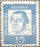 Sellos del Mundo : Europa : Alemania : Intercambio 0,20 usd 15 pf 1961