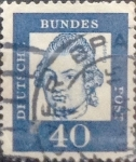 Sellos del Mundo : Europa : Alemania : Intercambio 0,20 usd 40 pf 1961